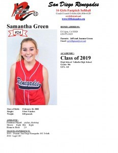 Sam Green Player Profile
